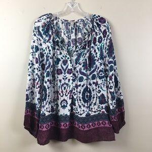 Lucky Brand | Paisley Purple Flower Top | Medium